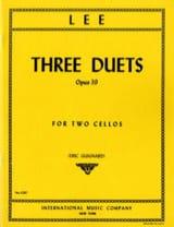 3 Duets op. 39 Sebastian Lee Partition Violoncelle - laflutedepan.com