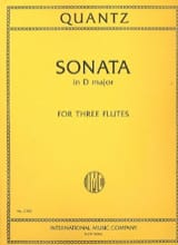 Johann Joachim Quantz - Sonata in D minor - 3 Flutes - Partition - di-arezzo.fr