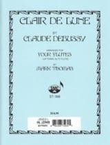 DEBUSSY - Clair de Lune - 4 Flutes - Sheet Music - di-arezzo.co.uk