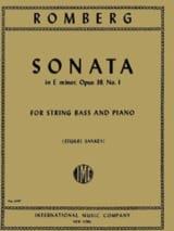 Sonata in E minor, op. 38 n° 1 - String bass laflutedepan.com