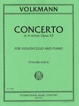 Concerto en la min. op. 33 Robert Volkmann Partition laflutedepan.com
