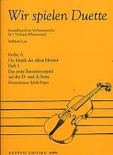Wir Spielen Duette, Heft 1 - Willibald Lutz - laflutedepan.com