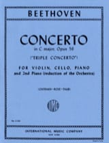 Ludwig van Beethoven - Triple Concerto C major op. 56 – Piano Vln Vc (Piano) - Partition - di-arezzo.fr