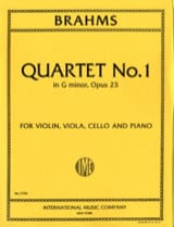 Johannes Brahms - Quartet n° 1 G minor op. 25 – Parts - Partition - di-arezzo.fr