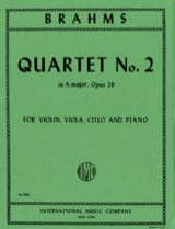 Quartet n° 2 A major op. 26 - Parts BRAHMS Partition laflutedepan.com