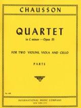 Quatuor à cordes op. 35, ut mineur –Parts - laflutedepan.com