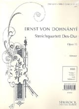 String quartet n° 2 D flat major op. 15 - Parts laflutedepan.com