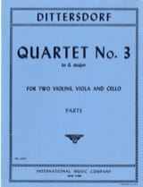 Quartet n° 3 G major - Parts laflutedepan.com