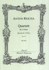 Quartett op. 12 - 4 Flöten Anton Reicha Partition laflutedepan.com