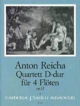 Anton Reicha - Quartett D-Dur op. 12 – 4 Flöten - Partition - di-arezzo.fr