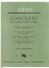 Carl Friedrich Abel - Concerto C-Dur - Flöte Klavier - Partition - di-arezzo.fr