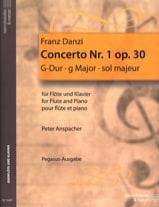 Franz Danzi - Concerto n° 1 op. 30 - Flöte Klavier - Partition - di-arezzo.fr