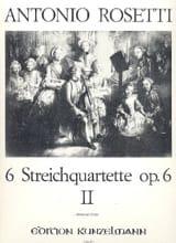 Antonio Rosetti - 6 Streichquartett op. 6, Bd. 2: Nr. 4-6 - Stimmen - Sheet Music - di-arezzo.co.uk