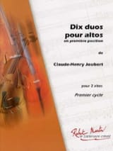 10 Duos pour altos Claude-Henry Joubert Partition laflutedepan.com