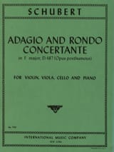 SCHUBERT - Adagio et Rondo concertant D. 487 -Parts - Partition - di-arezzo.fr