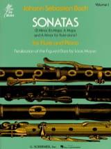 Sonatas - Volume 1 - Flûte piano BACH Partition laflutedepan.com
