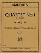 Bedrich Smetana - Quartet n° 1 E minor From my life - Parts - Partition - di-arezzo.fr