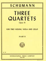 3 Quartets op. 41 - Parts SCHUMANN Partition laflutedepan.com