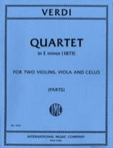 Quartet in E minor – Parts - Giuseppe Verdi - laflutedepan.com