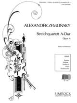 Alexander von Zemlinsky - Streichquartett Nr. 1 A-Dur op. 4 –Partitur + Stimmen - Partition - di-arezzo.fr