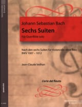 BACH - 6 Transcribed Suites For Flute Alone Bwv 1007-1012 - Sheet Music - di-arezzo.com