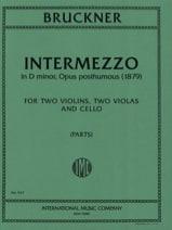 Anton Bruckner - Intermezzo op. posth. –Parts - Partition - di-arezzo.fr
