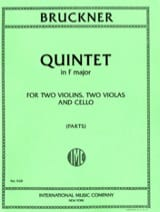 Anton Bruckner - Quintet in F major - Parts - Sheet Music - di-arezzo.co.uk
