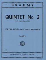Johannes Brahms - Quintet n° 2 in G major op. 111 – Parts - Partition - di-arezzo.fr