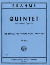 BRAHMS - Quintet in F minor op. 34 - Parts - Sheet Music - di-arezzo.co.uk