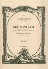 Sei Quintetti op. 56 G. 407-412 –Parties de cordes - laflutedepan.com