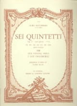 Sei Quintetti - G. 301-306 op. 27 –Parts - laflutedepan.com