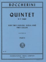 Quintet in C major - Parts BOCCHERINI Partition laflutedepan.com