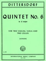 Quintet n° 6 in G major –Score + Parts - laflutedepan.com