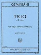 Trio in C minor -3 Violins piano - Parts laflutedepan.com