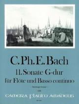 Carl Philipp Emanuel Bach - Sonate N° 11 en Sol Majeur - Partition - di-arezzo.fr
