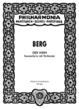 Der Wein - Partitur Alban Berg Partition laflutedepan.com