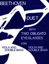 BEETHOVEN - Duet With Two Obligato Eyeglasses - Sheet Music - di-arezzo.co.uk