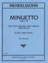 Minuetto op. 18 –Score + Parts laflutedepan.com