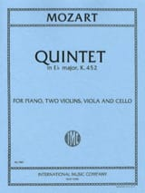 MOZART - Quintet in Eb major KV 452 - Parts - Partition - di-arezzo.fr