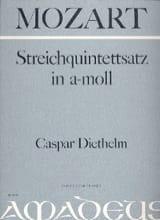 Wolfgang Amadeus Mozart - Streichquintettsatz in a-moll –Partitur + Stimmen - Partition - di-arezzo.fr