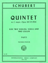 SCHUBERT - Quintet in C major op. 163 D. 956 - Parts - Sheet Music - di-arezzo.co.uk
