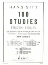 Hans Sitt - 100 Etudes op. 32 - Book 5 - Sheet Music - di-arezzo.co.uk