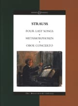 Richard Strauss - Four Last Songs - Metamorphosen - Oboe Concerto - Partition - di-arezzo.fr