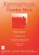 Franz Lachner - Quintett Nr. 1 op. 139 –Klavier 2 Violinen Viola Cello - Partition - di-arezzo.fr