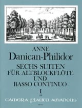 6 Suiten Volume 1 Anne Danican-Philidor Partition laflutedepan.com