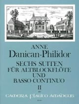 6 Suites Vol.2 Anne Danican-Philidor Partition laflutedepan.com