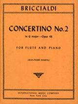 Giulio Briccialdi - Concertino N° 2, Op. 48 - Flûte et Piano - Partition - di-arezzo.fr
