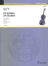 Hans Sitt - 24 Etüden aus op. 32 - Heft 1 – Viola - Partition - di-arezzo.fr