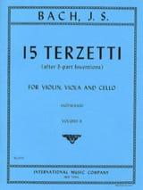 Johann Sebastian Bach - 15 Terzetti – Volume 2 - Partition - di-arezzo.fr