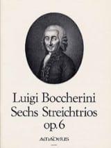 Luigi Boccherini - 6 Trios op. 6 –2 Violinen Violoncello - Stimmen - Partition - di-arezzo.fr